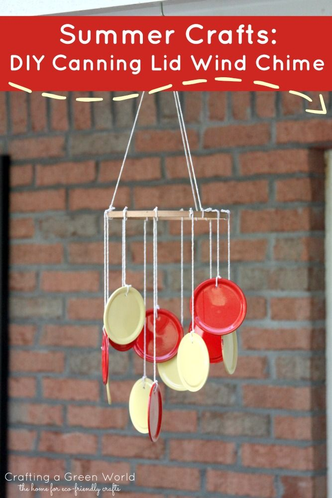 Celebrate summer with awesome #summercrafts like this #DIY canning lid wind chime!