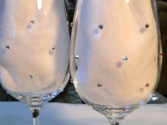 Swarovski Crystals Wine Glasses