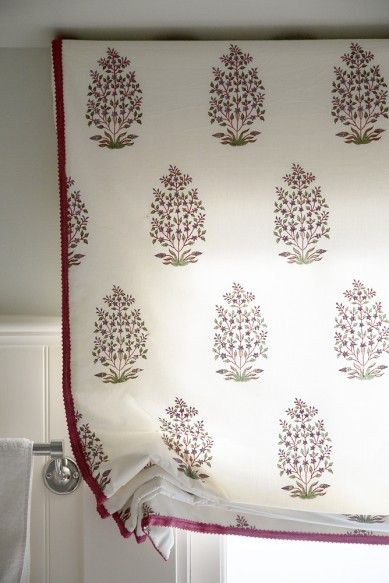 Palmer Weiss – Presidio Heights 2 | Roman Shade with Ribbon Trim