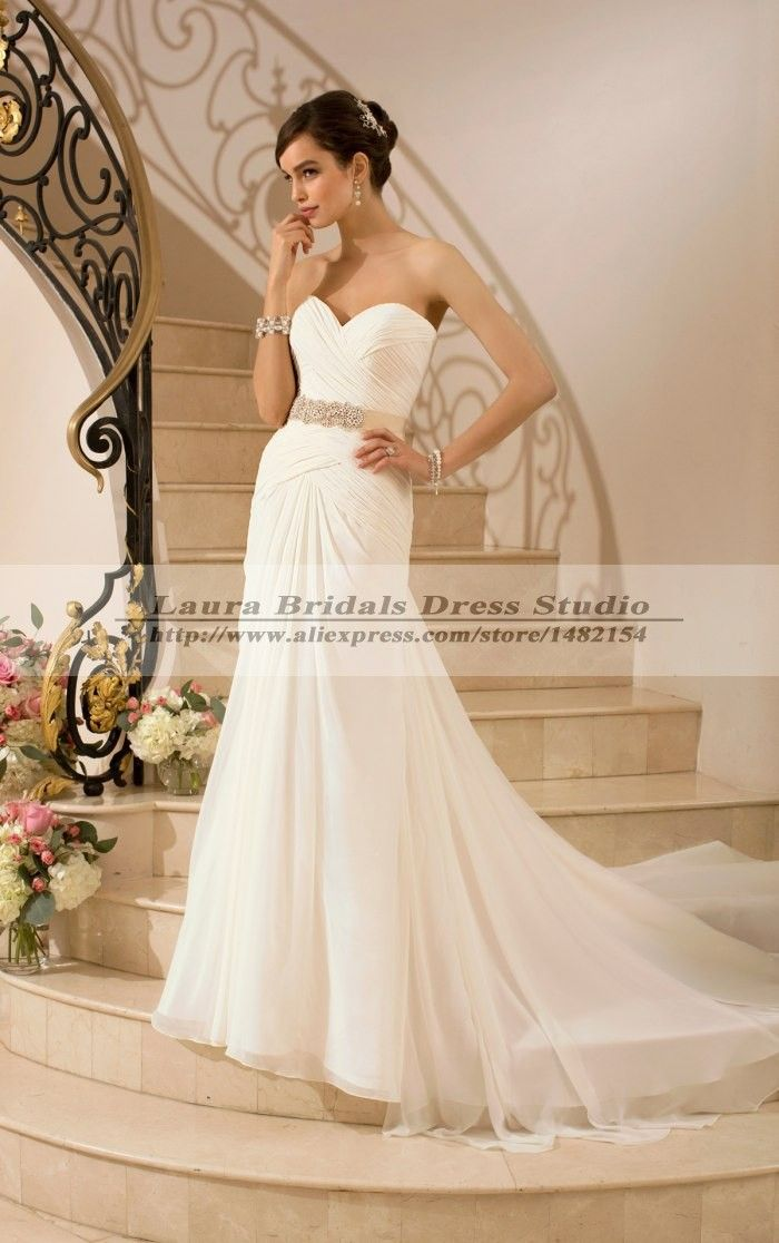 Cheap Wedding Dresses, Buy Directly from China Suppliers:Sexy Cheap Vintage Beach Wedding Dress China 2015 Romantic Simple A-line Wedding Dresses 2015 Bridal G