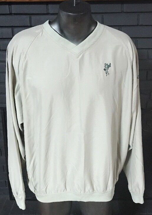 Ashworth Golf Pullover Windbreaker Jacket Beige Men's Size XL #ASHWORTH #Windbreaker