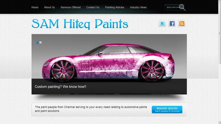 SAM Hiteq Paints - Website Development