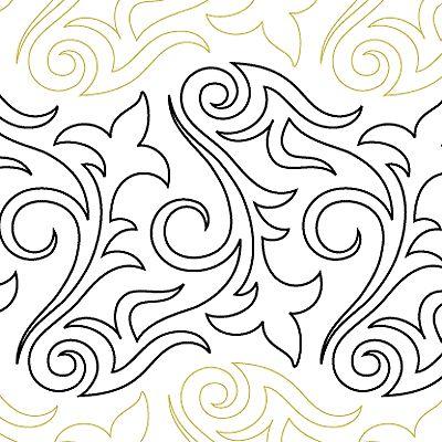 """Renaissance - Paper - 12"""" - Quilts Complete - Continuous Line Quilting Patterns"""