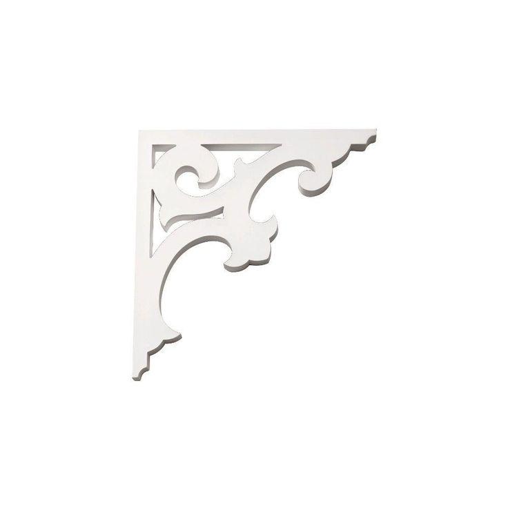 Fypon 14 in. x 14-11/16 in. x 1 in. Polyurethane Decorative Bracket-BKT14X15 - The Home Depot