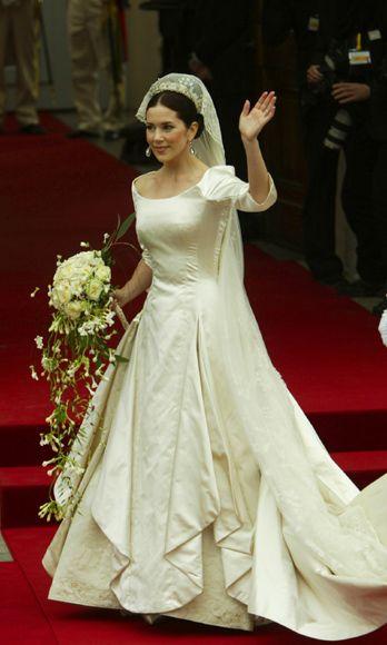 El vestido de novia de la princesa Mary de Dinamarca (2004)