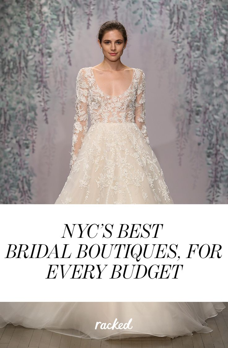 The 41 Best Places to Get Wedding Dresses in New York City, No Matter What Your Budget Is: (http://ny.racked.com/maps/best-wedding-dress-shopping-nyc)