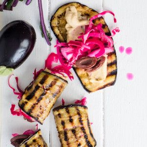 Pickled Red Cabbage Aubergine Rolls #Vegetarian #Aubergine #Rolls #SouthAfrica