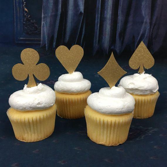 Alice in Wonderland Cupcake Toppers, Poker Cupcake Toppers, Mad Hatter Cupcake Toppers, Casino Cupcake Toppers, Wonderland Picks