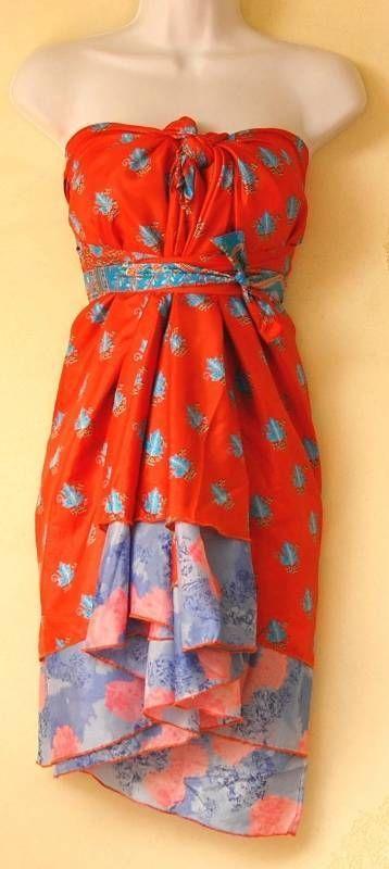 "PLUS SIZE Vintage Silk Magic 30"" Length Wrap Skirt Halter Tube Maxi Dress Pareo #Maxi #Casual #Maxi #Swimwear #Cover #Party Dress #Maxi #Boho Long #Scarf #Dress #Bridal #Cheap #Sale #Maternity #Wrap #Magic #Multiwear #OneSizeFitsAll #Skirt #Vintage #PlusSize"