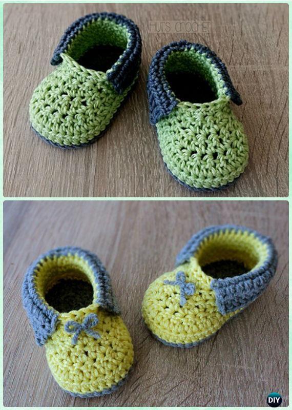 Crochet Hut's Paradise Baby Booties Free Pattern - Crochet Baby Booties Slippers Free Pattern