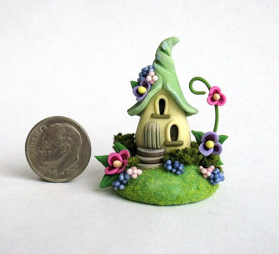 Miniature Charming Fairy Whimsy House OOAK by by ArtisticSpirit