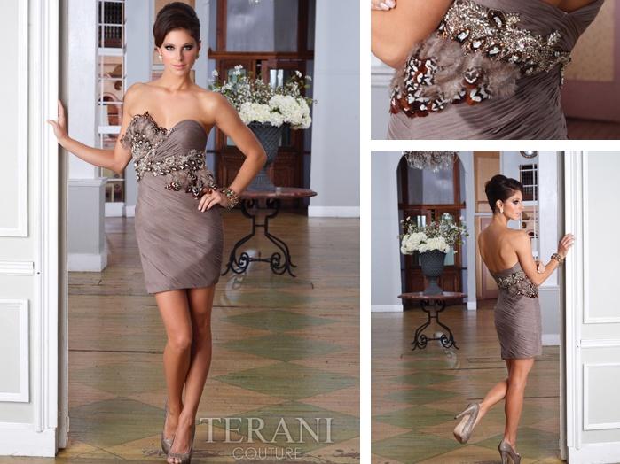 Sliky brown dress by #Terani