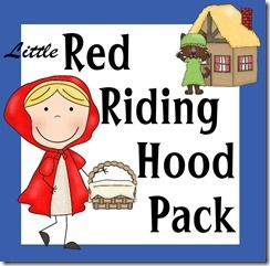 FREE Red Riding Hood Pack with learning worksheets for kids 2-8 years old!