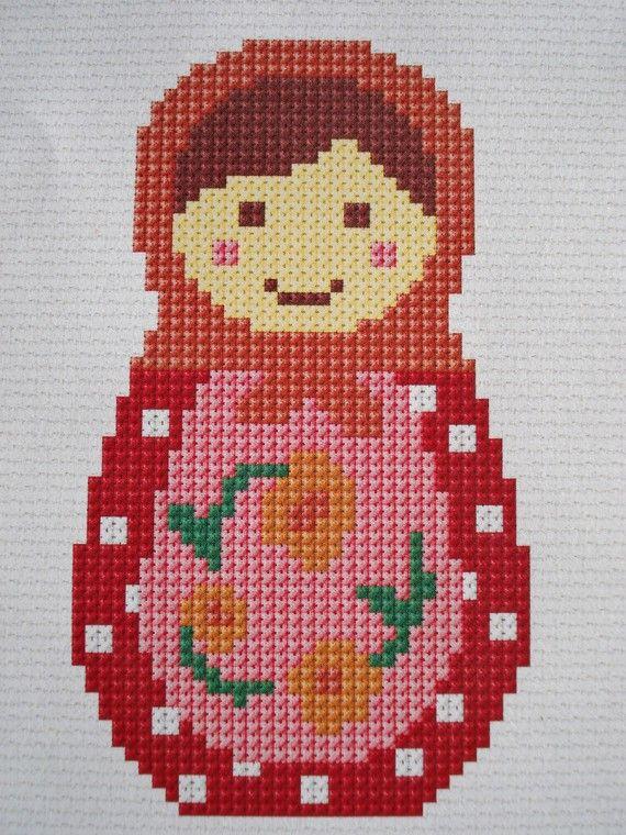 Two Little Babushkas cross stitch pdf pattern by cupcakecutie1, $7.00