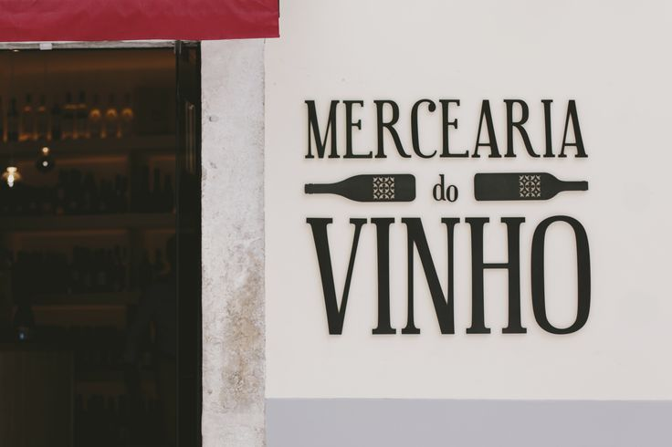 Metal lettering street signs lisbon wine shop