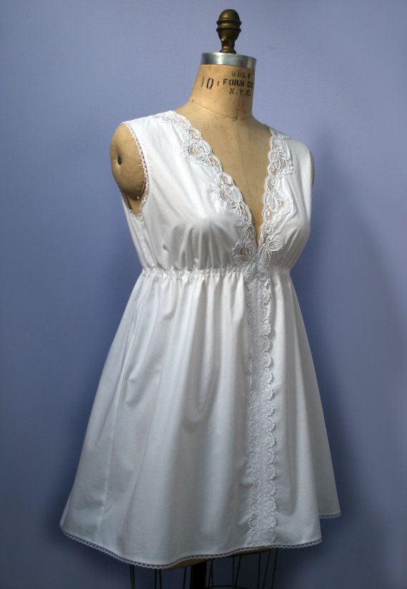 Short  Cotton Nightgown CustomMade Lingerie by 7PineDesign on Etsy, $76.00