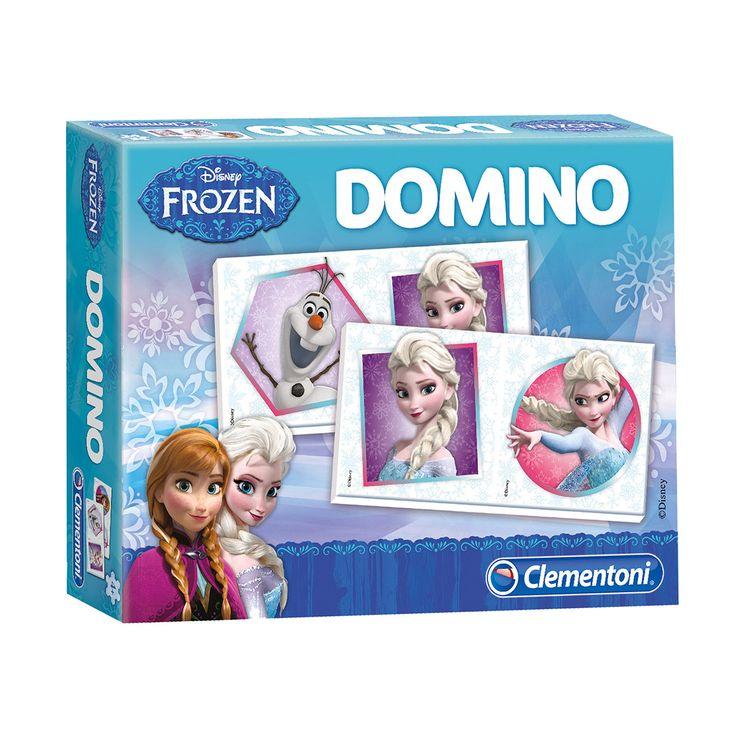 Disney Frozen dominospel met 28 kaarten van al de favoriete Disney Frozen figuren. Afmeting: verpakking 20 x 15 x 4 cm - Disney Frozen Domino