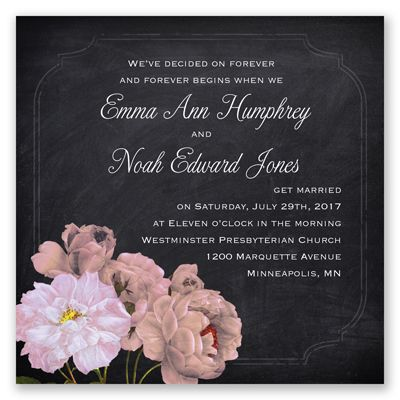 Rose Wedding Invitation Coral Reef
