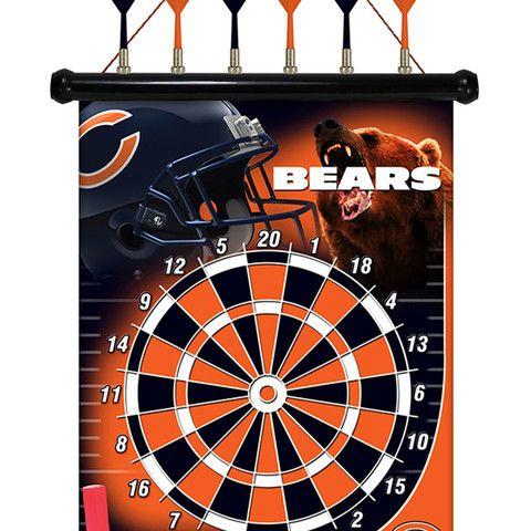 Chicago Bears Magnetic Dart Board #ChicagoBears