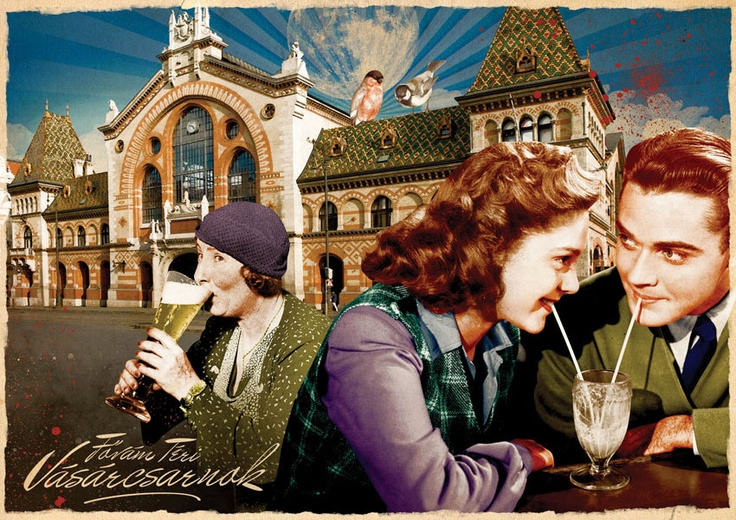 Postcard - Budapest - Market Hall. Ft400.00, via Etsy.