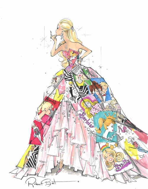 A Gorgeous Drawing Of A Barbie Inspired Princess Gown. | Princess | Pinterest | Beautiful ...