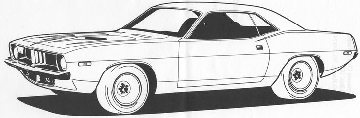 Muscle Car Coloring Pages Pin Cuda Colouring Pages on