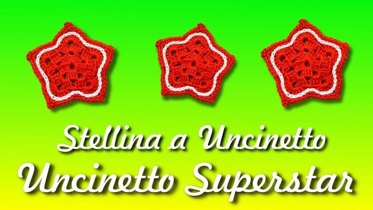 Stella a uncinetto - Decorazioni natalizie | Easy crochet star tutorial