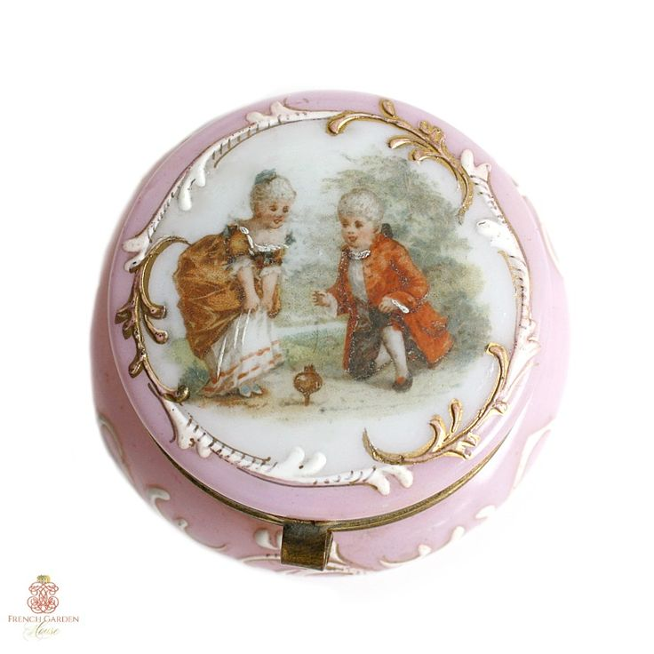 French Victorian Opaline Glass Rouge Pot Pink