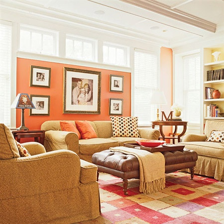 Coral living room design decor ideas pinterest for Coral walls living room