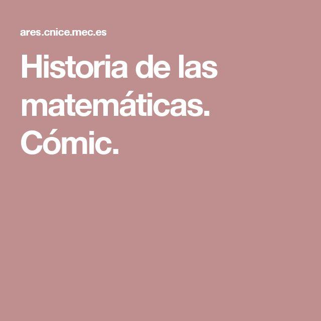 Historia de las matemáticas. Cómic.