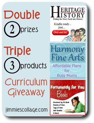 Double Triple Curriculum Giveaway from Jimmie's Collage