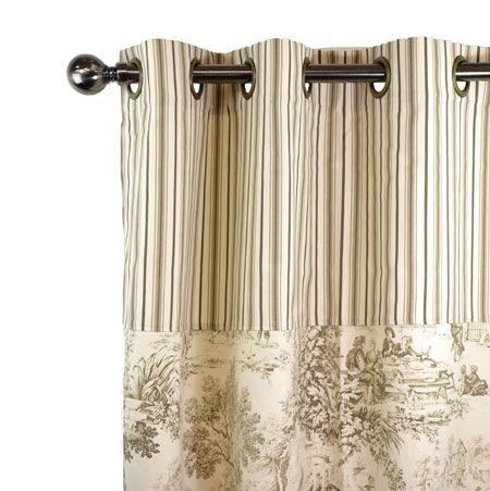 les 15 meilleures images propos de toile de jouy rideaux coussins sur pinterest satin. Black Bedroom Furniture Sets. Home Design Ideas