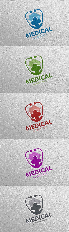 House Cross Medical Logo 119 in 2020 Medical logo