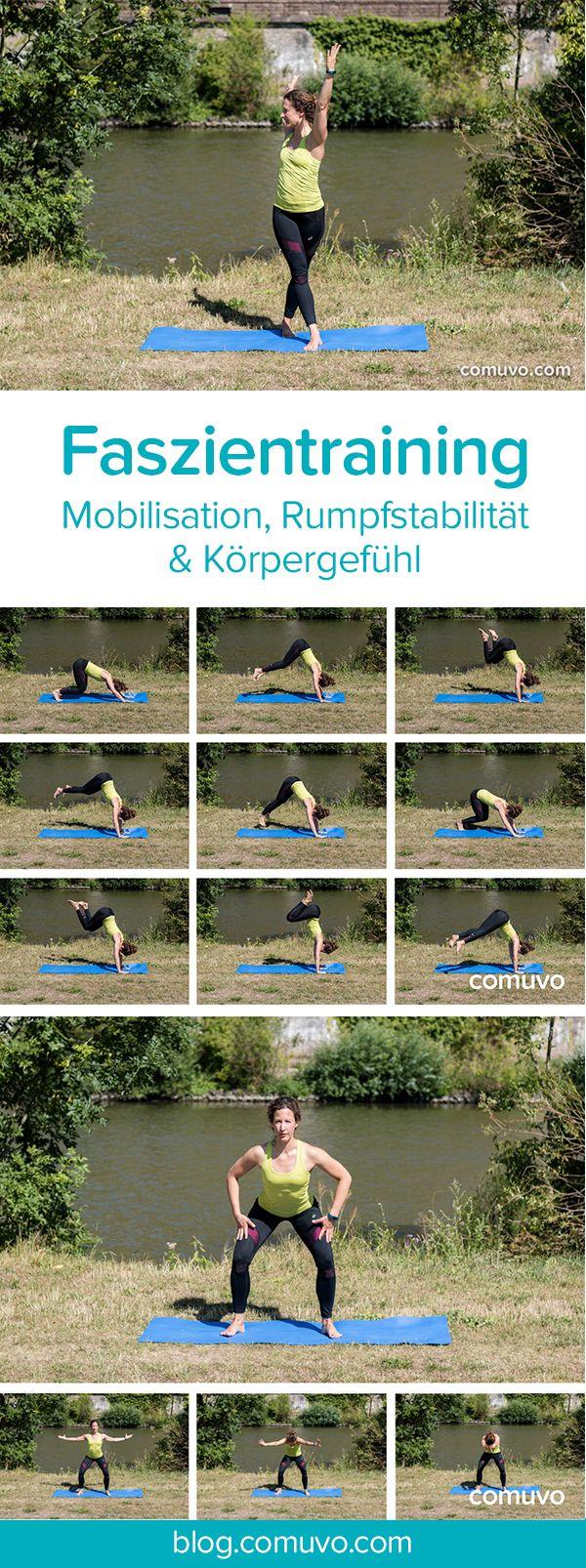 Faszientraining ohne Geräte – Mobilisation, Rumpfstabilität & Körpergefühl   6 einfache Übungen aus dem Faszientraining, die sich gezielt auf die Beweglichkeit der Wirbelsäule, die Stärkung der Körpermitte und ein verbessertes Körpergefühl richten.  #Workout