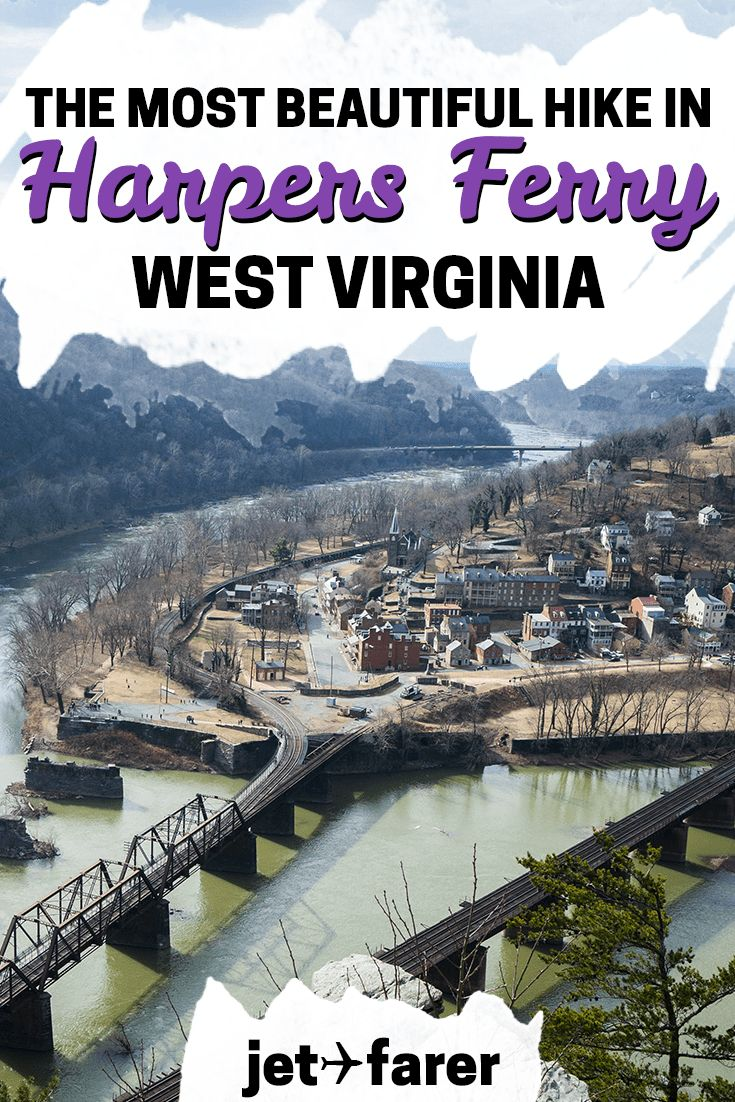 Looking for an awesome day trip from Washington, DC? Head to Harpers Ferry National Historic Park to hike the Maryland Heights trail! Click through to learn more about the most beautiful hike in the area, just an hour from DC. #unitedstates   west virginia travel   west virginia hiking   west virginia hikes   harpers ferry west virginia   wv   day trips from washington dc   weekend trip ideas   west virginia road trips   west virginia travel bucket lists