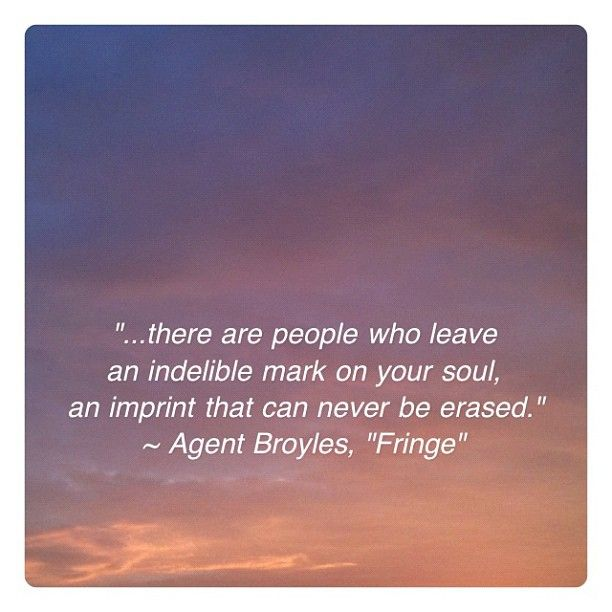 These is definitley one of my favorite quotes from the show. FRINGE