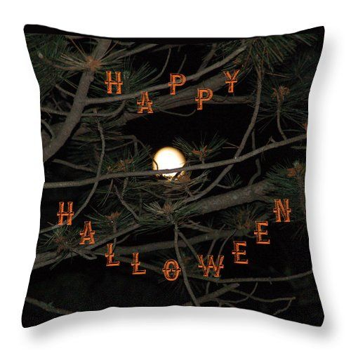 HalloweenThrow Pillow for Sale by Aimee L Maher Photography and Art Visit ALMGallerydotcom  Pillows are made from 100% spun polyester poplin fabric and add a stylish statement to any room. They are available in sizes from 14x14  to 26x26. Each pillow is printed on both sides (same image) and includes a concealed zipper and removable insert (if selected) for easy cleaning. Be sure to use the Cropping Tool when ordering pillows to ensure the photo is centered to your liking