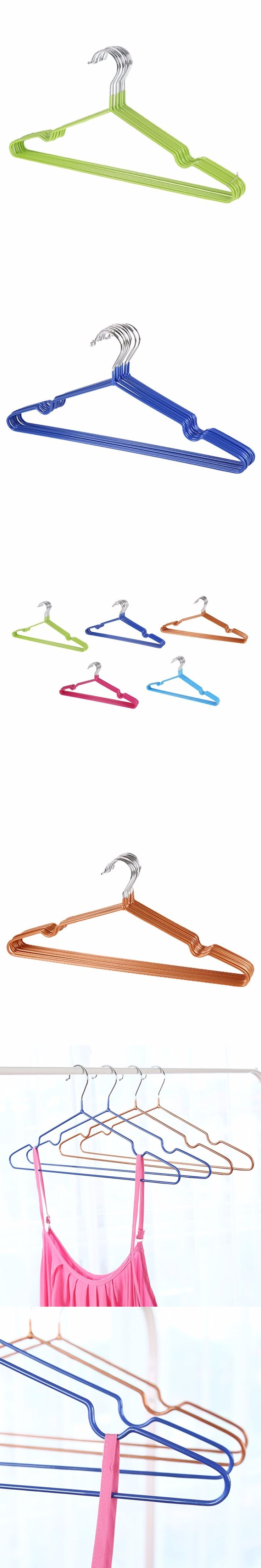 10pcs/Lot Strong Stainless Steel Hangers For Clothes Pegs Wire Anti-skid Drying Clothes Rack Adult And Children Hanger Newest