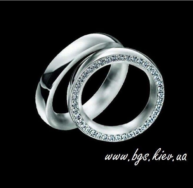 Обручальное кольцо | Best Gold Service Обручальные кольца из белого золота с бриллиантами www.bgs.kiev.ua