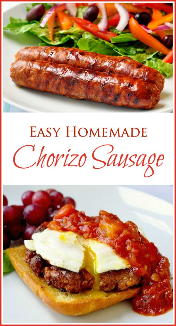 Easy Homemade Chorizo Sausage - with or without casings. Making homemade sausage is not as hard as you think plus it has no added preservatives! Makes a weekend brunch extra special.