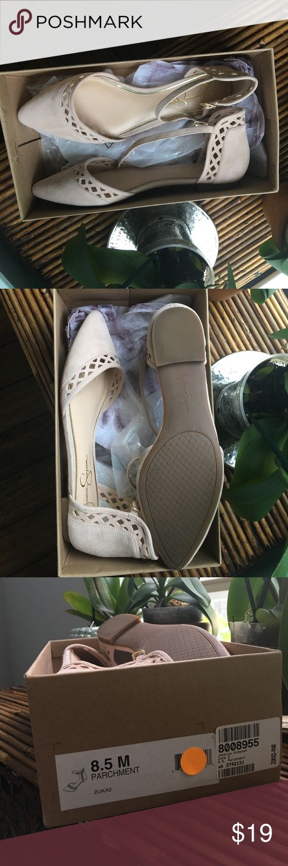 Jessica Simpson nude flats Brand new in box Jessica Simpson Shoes Slippers