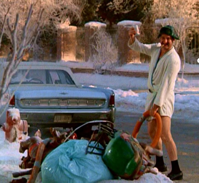 Christmas Vacation Santa Quote: Merry Christmas, Shitters Full