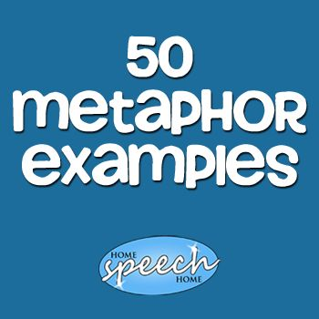 A list of metaphors may be easy to find online, but this selection is geared specifically for teaching speech therapy.