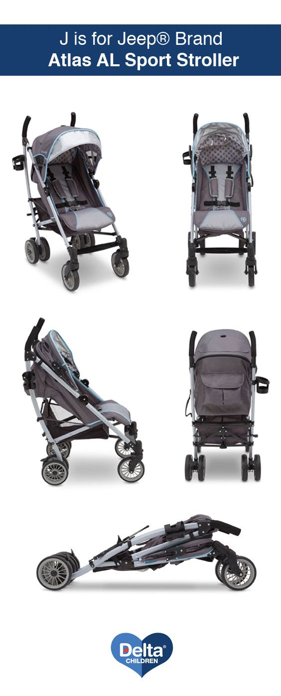 The J is for Jeep® Brand Atlas AL Stroller from Delta Children is equipped to explore the world easily with its durable and extremely lightweight aluminum frame. #Stroller #DeltaChildren #Strollers #Jeep #JisforJeep
