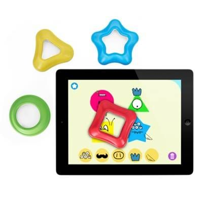 Tiggly Shapes | A fun and educational set of toys for children between 18 months and 4 years old, designed to interact with tablet learning apps! #tablet #iPad #kids #learning #tigglyshapes