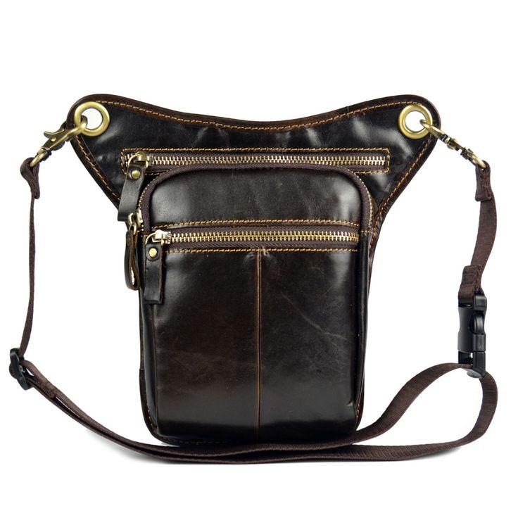 genuine leather messenger bags for men waist bag shoulder cowhide crossbody bags small man bags #Affiliate
