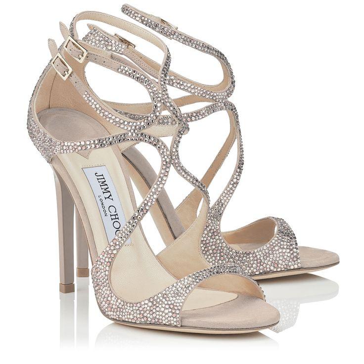 Sandales à paillettes Lorina 100Jimmy Choo London NHzNd9du2y