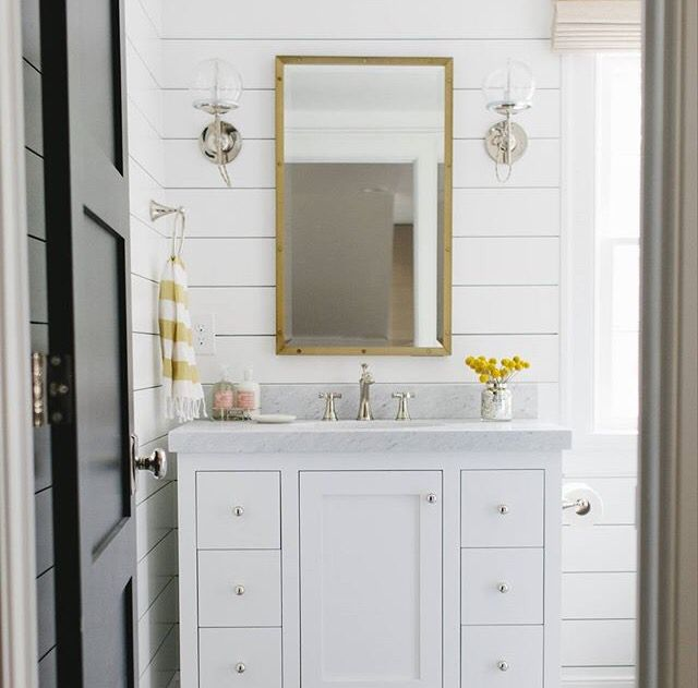 Shiplap Bathroom Vanity: 1490 Best Water Closet Images On Pinterest