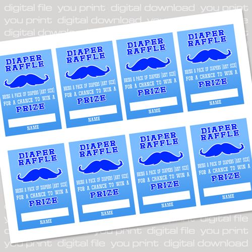 free printable raffle tickets sheets little man mustache baby