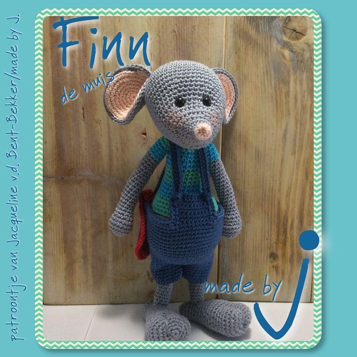 Amigurumi Finn de muis. Patroon te koop bij www.facebook.com/MadebyJ.4kids
